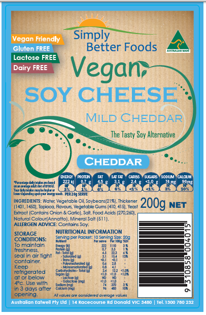 Simply Better Foods Mild Cheddar image