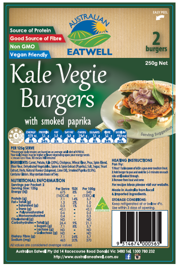 Kale Vegie Burgers with Smoked Paprika
